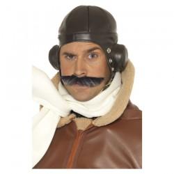 Inchiriere casca aviator interbelic, imitatie piele neagra, barbati
