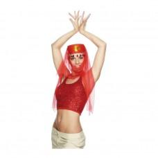 Inchiriere Accesorii cadana, dansatoare orientala, palarie, voal culoare rosie
