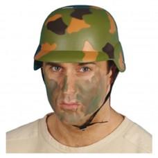 Inchiriere Casca soldat, model camuflaj militar, culoare verde, barbati