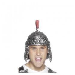 Inchiriere Casca soldat roman, argintie, creasta rosie, barbati