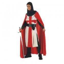 Inchiriere Costum Cavaler templier, pantaloni negri, camasa alba cu cruce rosie, barbati