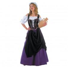 Inchiriere Costum crasmarita, rochie alb cu mov, sort negru, femei