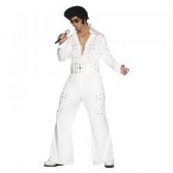 Inchiriere Costum Elvis Presley, culoare alb, barbati