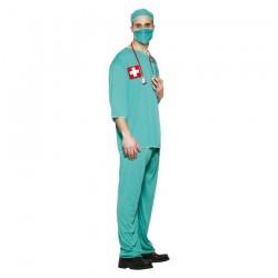 Inchiriere Costum Medic, pantaloni si bluza, culoare verde, barbati
