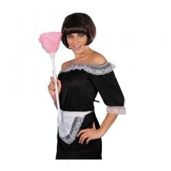 Inchiriere Costum Menajera, rochie neagra, sort alb, femei
