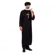Inchiriere Costum calugar, sutana culoare neagra, barbati