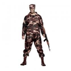 Inchiriere Costum soldat fortele speciale, combinezon verde camuflaj, barbati