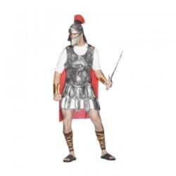 Inchiriere Costum Soldat Roman, bluza alba, armura argintie, mantie rosie, barbati