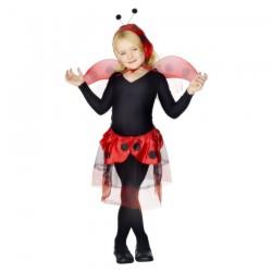 Inchiriere Costum Garagarita, fusta rosie, body negru, fete