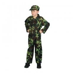 Inchiriere Costum Militar, verde camuflaj, baieti