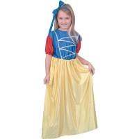 Inchiriere Costum Alba ca Zapada, rochie albastru/galben, fete