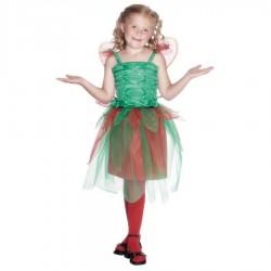 Inchiriere Costum Floare, rochie verde cu rosu, fete